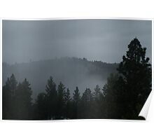 Mist in Republic, Washington Poster