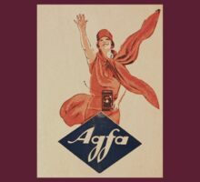 Vintage Agfa Advert on Photographic Wallet by Kawka