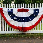 Red, White and Blue Bunting by vvfineartphotog