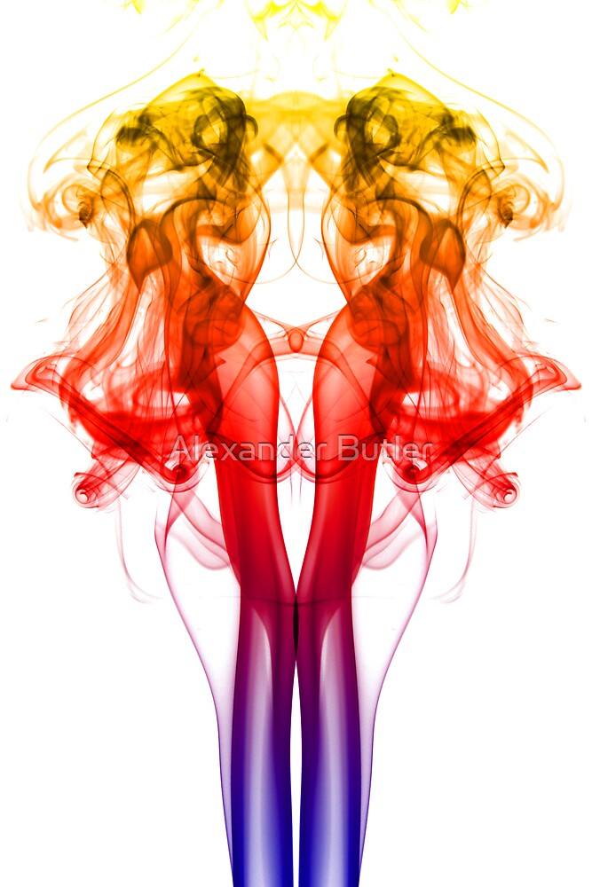 Dance of Color - Smoke Photography by Alexander Butler