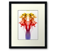 Dance of Color - Smoke Photography Framed Print
