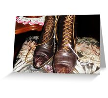 High Top Shoes Greeting Card