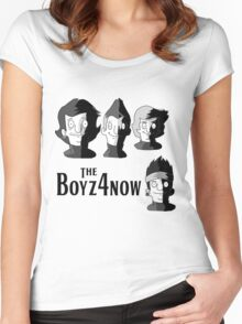 Meet The Boyz4Now! (light color options with black text) Women's Fitted Scoop T-Shirt