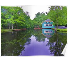 Reflections at Mill Pond Poster