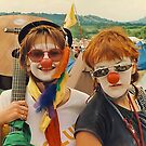 Happy Girls at Glastonbury festival . by relayer51