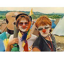 Happy Girls at Glastonbury festival . Photographic Print