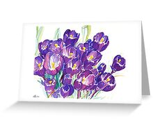The First Crocuses of Spring Greeting Card
