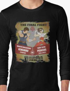 Ken Shiro VS Pegasus Boxe poster Long Sleeve T-Shirt