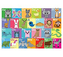 The Animal Alphabet Photographic Print