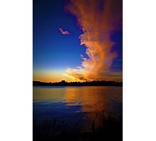 Sunset At Lake Burley Griffin Photographic Print