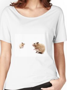 Hamster Hi Five. Women's Relaxed Fit T-Shirt