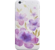 Violet Abstract Flowers, Original Watercolor Painting For Your Home Decor. For Sale, see Artist Notes iPhone Case/Skin
