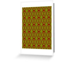Acid Green Design K Greeting Card