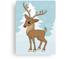 Christmas Reindeer Canvas Print