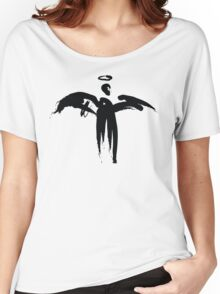 Angel (Black on White) Women's Relaxed Fit T-Shirt