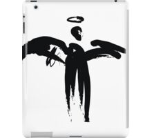 Angel (Black on White) iPad Case/Skin