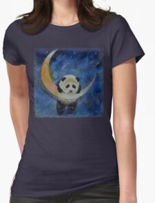 Panda Stars Womens Fitted T-Shirt