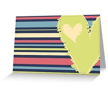 Cute Green Heart Greeting Card
