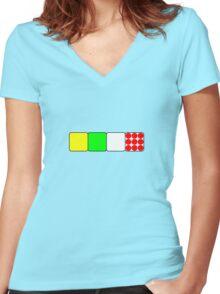 Tour De France Jerseys Alt 1 Green Women's Fitted V-Neck T-Shirt