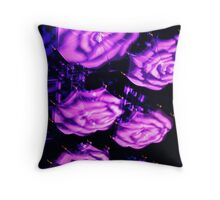 Glowing Parasols Throw Pillow