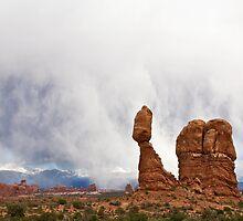 Balanced Rock Cloudstorm by Kim Barton