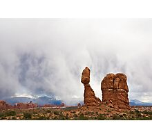 Balanced Rock Cloudstorm Photographic Print