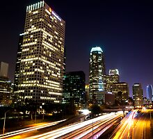 Los Angeles At Night by William Lu