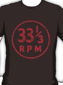 33 1/3 rpm vinyl record icon T-Shirt
