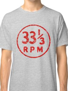 33 1/3 rpm vinyl record icon Classic T-Shirt