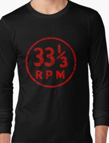 33 1/3 rpm vinyl record icon Long Sleeve T-Shirt