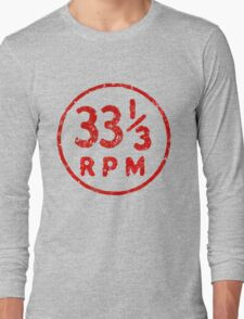 33 1/3 rpm vinyl record icon Long Sleeve T-Shirt