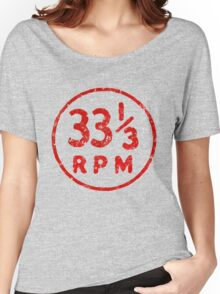 33 1/3 rpm vinyl record icon Women's Relaxed Fit T-Shirt