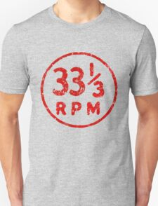 33 1/3 rpm vinyl record icon T-Shirt
