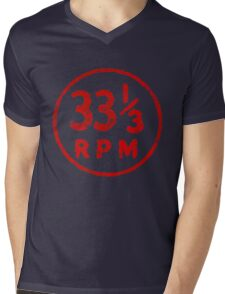 33 1/3 rpm vinyl record icon Mens V-Neck T-Shirt