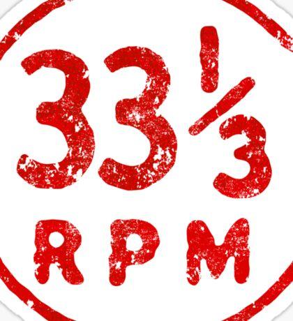 33 1/3 rpm vinyl record icon Sticker