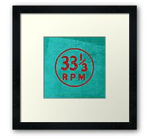 33 1/3 rpm vinyl record icon Framed Print