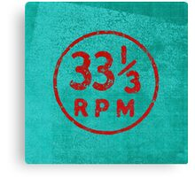 33 1/3 rpm vinyl record icon Canvas Print