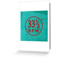 33 1/3 rpm vinyl record icon Greeting Card