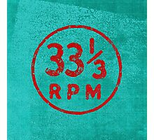 33 1/3 rpm vinyl record icon Photographic Print