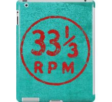 33 1/3 rpm vinyl record icon iPad Case/Skin