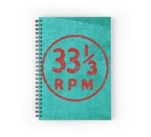 33 1/3 rpm vinyl record icon Spiral Notebook