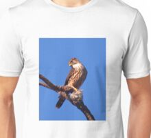 Sharp-shinned Hawk with Cedar Waxwing Unisex T-Shirt