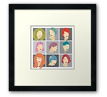 Hairstyles Through Time Framed Print