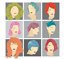 Hairstyles Through Time Photographic Print
