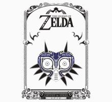 Zelda Legend - Majora's Mask doodle One Piece - Short Sleeve