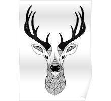 Deer Black and White Poster