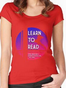 Super Smash Bros. LEARN TO READ  Women's Fitted Scoop T-Shirt