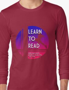 Super Smash Bros. LEARN TO READ  Long Sleeve T-Shirt