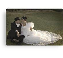 Bride and Groom romance Canvas Print