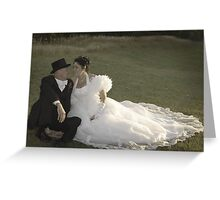 Bride and Groom romance Greeting Card